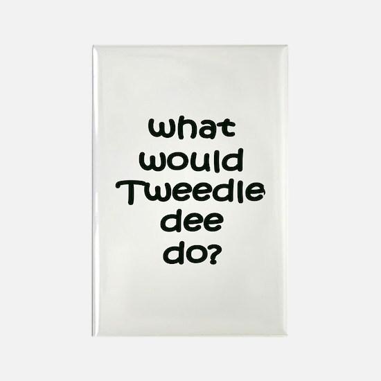 Tweedledee Rectangle Magnet
