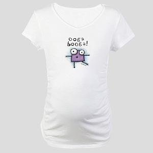 Ooga Booga Purple Monster Maternity T-Shirt