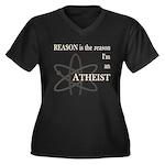 REASON IS THE REASON ATHEIST Women's Plus Size V-N