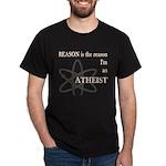 REASON IS THE REASON ATHEIST Dark T-Shirt