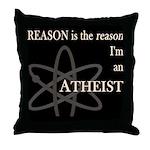 REASON IS THE REASON ATHEIST DARK Throw Pillow