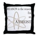 REASON IS THE REASON ATHEIST Throw Pillow
