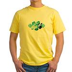 Hibiscus Surf - Yellow T-Shirt