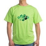 Hibiscus Surf - Green T-Shirt