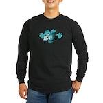 Hibiscus Surf - Long Sleeve Dark T-Shirt