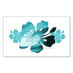 Hibiscus Surf - Rectangle Sticker 50 pk)