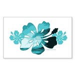 Hibiscus Surf - Rectangle Sticker 10 pk)