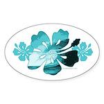 Hibiscus Surf - Oval Sticker (50 pk)