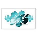 Hibiscus Surf - Rectangle Sticker