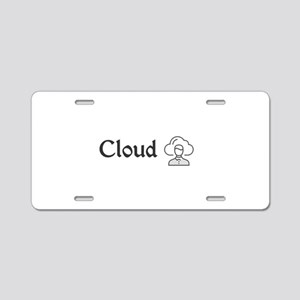 Cloud Aluminum License Plate
