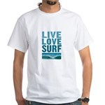 Live, Love, Surf - White T-Shirt