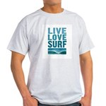 Live, Love, Surf - Light T-Shirt