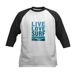 Live, Love, Surf - Kids Baseball Jersey