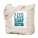 Live, Love, Surf - Tote Bag