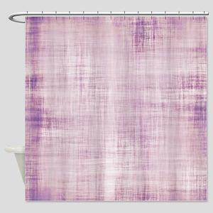 PURPLE STRIATIONS Shower Curtain