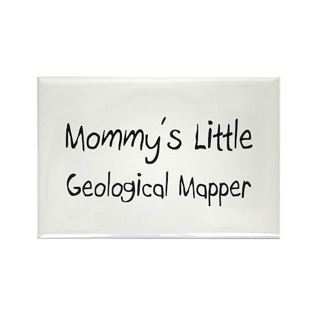 Mommy's Little Geological Mapper Rectangle Magnet