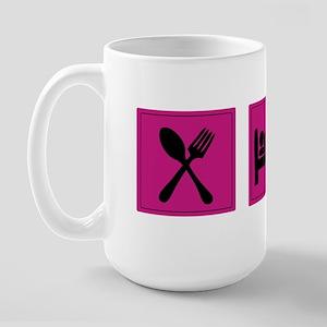 Eat Sleep Knit Large Mug