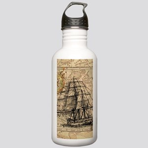 vintage pirate ship wo Stainless Water Bottle 1.0L