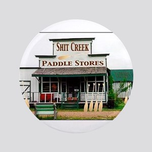 "Shit's Creek Paddle Store 3.5"" Button"