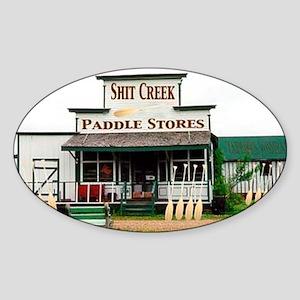 Shit's Creek Paddle Store Oval Sticker