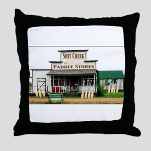 Shit's Creek Paddle Store Throw Pillow
