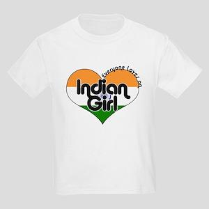 Indian Girl Kids Light T-Shirt