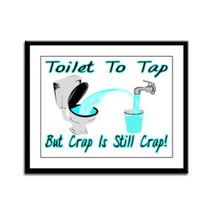 Toilet To Tap Framed Panel Print