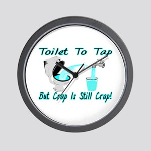 Toilet To Tap Wall Clock