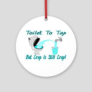 Toilet To Tap Ornament (Round)