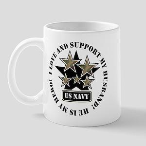 US NAVY HUSBAND STARS Mug