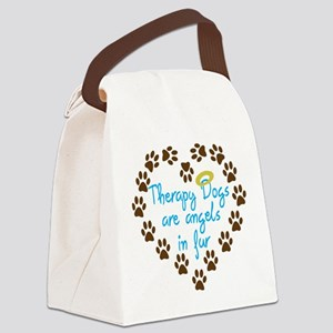 Therapy Dogs Canvas Lunch Bag