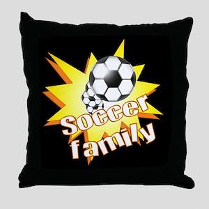 Soccer Family Throw Pillow