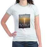 We Delight In The Shabbat Jr. Ringer T-Shirt
