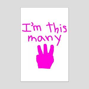 I'm This Many 3 Mini Poster Print