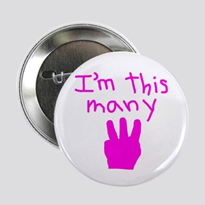 """I'm This Many 3 2.25"""" Button"""