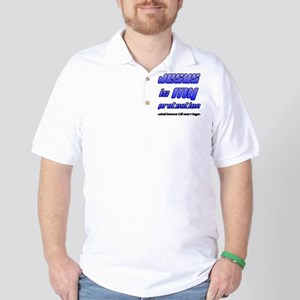 Jesus is My Protection: Absti Golf Shirt