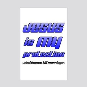 Jesus is My Protection: Absti Mini Poster Print