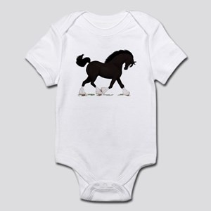 Black Shire with Blaze Infant Bodysuit