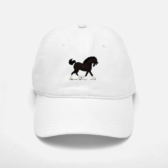 Black Shire with Blaze Baseball Baseball Cap