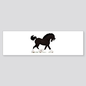 Black Shire with Blaze Bumper Sticker