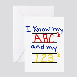 123 abc greeting cards cafepress abcs and 123s greeting card m4hsunfo