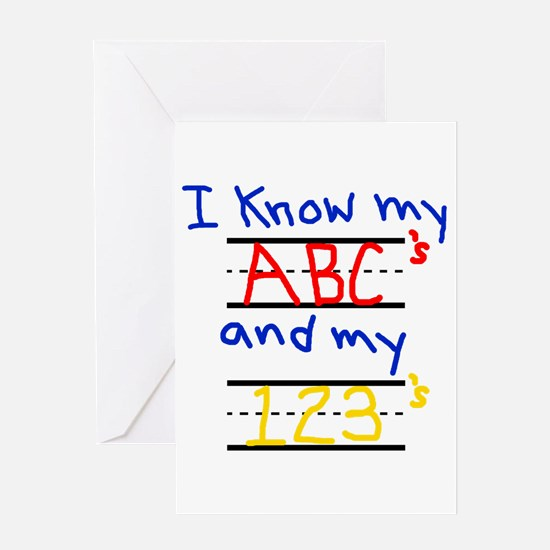 ABCs and 123s Greeting Card