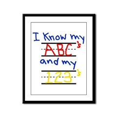 ABCs and 123s Framed Panel Print