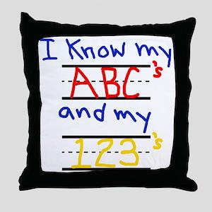 ABCs and 123s Throw Pillow