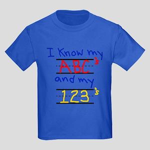 ABCs and 123s Kids Dark T-Shirt