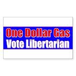 Dollar Gas Rectangle Sticker