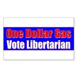 Dollar Gas Rectangle Sticker 10 pk)