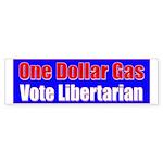 Dollar Gas Bumper Sticker