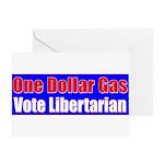 Dollar Gas Greeting Card