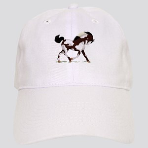 Black Overo Paint Horse Cap